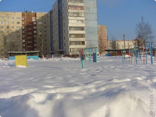 Я живу на окраине города. Этой зимой выпало очень много снега. фото 12