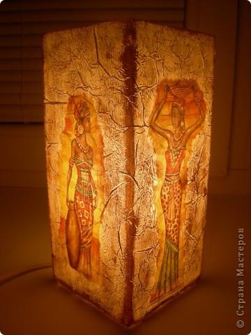 На этот раз в ход пошел светильник из Икеи и все та-же, знакомая всем салфетка, вот результат. фото 4