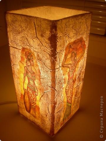 На этот раз в ход пошел светильник из Икеи и все та-же, знакомая всем салфетка, вот результат. фото 5