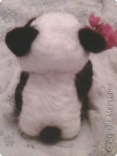 панда с цветами. 10см. фото 2