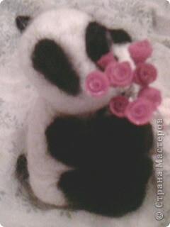 панда с цветами. 10см. фото 3