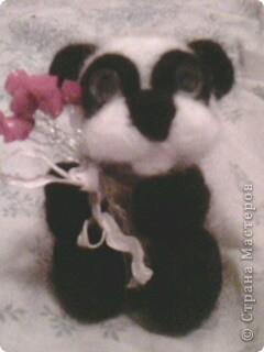 панда с цветами. 10см. фото 4