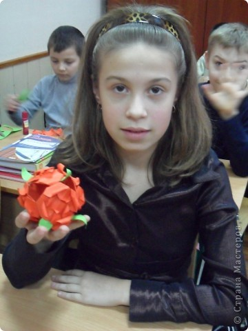 "Кусудама  ""Роза"" фото 5"