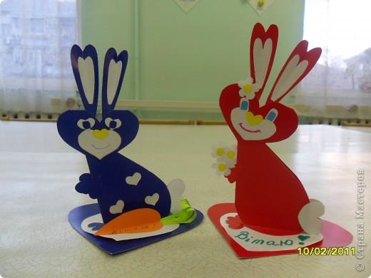 Сердечные кролики на день святого Валентина. фото 1