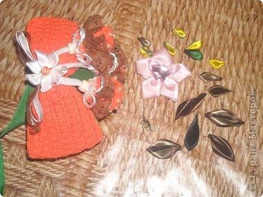 Мастер-класс Поделка изделие Украшение Цумами Канзаши Цветы из лент Ленты фото 12