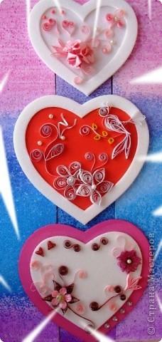 Посылаю валентинкy В Виде сердца моего. Hо вглядись скорей в каpтинкy - Ты найдешь там и свое. Ведь бывают чудеса: Было сердце, стало три..  фото 1