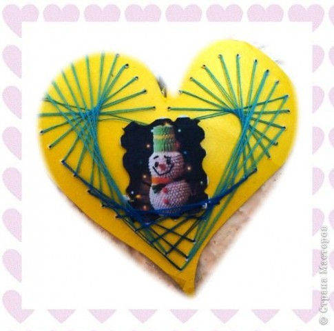 Мишка с сердцем аппликция фото 4