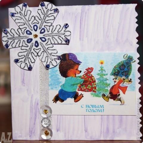 делала НГ открытки для коллег и родственников! фото 5