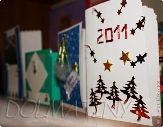 делала НГ открытки для коллег и родственников! фото 1