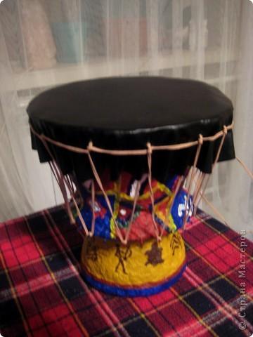Делали с сыном поделку на конкурс музыкальных инструментов. Выбрабали африканский барабан Джембе :) фото 8