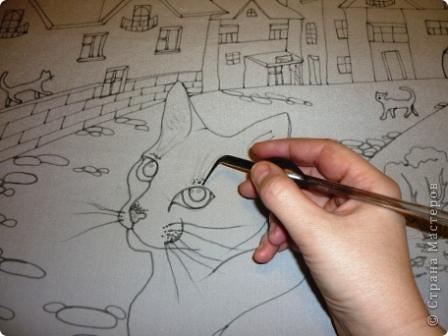 Эта работа выполнена на заказ по просьбе художника анималиста НАТАЛЬИ УСОВОЙ.По её эскизам,но в декоративной технике.  фото 4