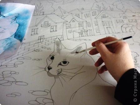 Эта работа выполнена на заказ по просьбе художника анималиста НАТАЛЬИ УСОВОЙ.По её эскизам,но в декоративной технике.  фото 5