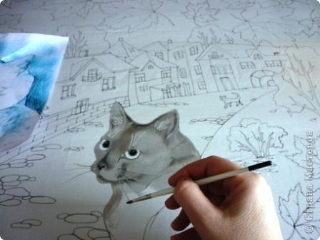 Эта работа выполнена на заказ по просьбе художника анималиста НАТАЛЬИ УСОВОЙ.По её эскизам,но в декоративной технике.  фото 6