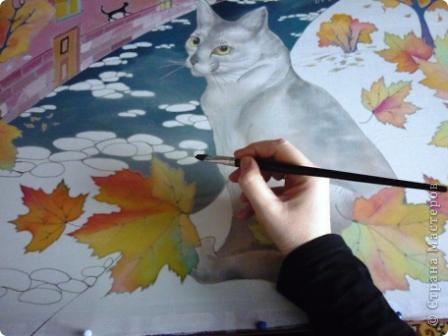 Эта работа выполнена на заказ по просьбе художника анималиста НАТАЛЬИ УСОВОЙ.По её эскизам,но в декоративной технике.  фото 9