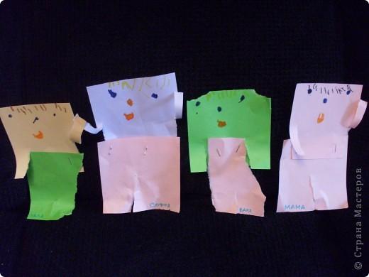 Это наша семья(папа,София,Варя,мама). Всё сделала и придумала София(3,1г)сама.  фото 1