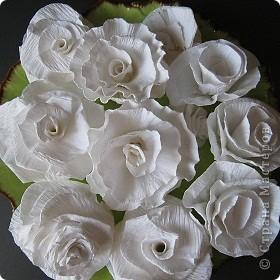 Розы из бумаги от свадебного букета фото 1