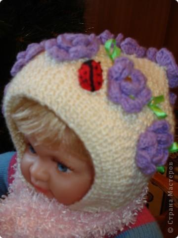 Весенняя шапочка для дочки