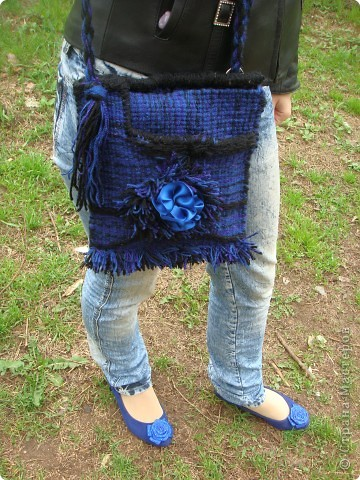 """Гобелен. Сумка """"Синий цветок"""" фото 1"""