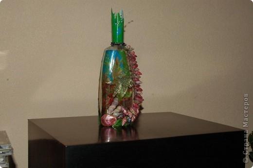Мини аквариум.Ракушки ,разноцветный лак для ногтей и рыбка. фото 3