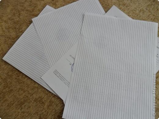 Этот способ я придумала сама. Сначала я нарезала полоски по железной линейке резаком, но нож быстро тупился. И тогда я сделала на компьютере разлиновку. Правда сначала даже печатала её на цветной бумаге, но оставались серенькие следы от краски. Ширина моих полос 5 мм.  Разлиновку я сделала в программе Microsoft Office Word 2003.( надо вставить таблицу, количество строк - 42, столбец - 1  и растягиваю таблицу на весь лист) фото 1