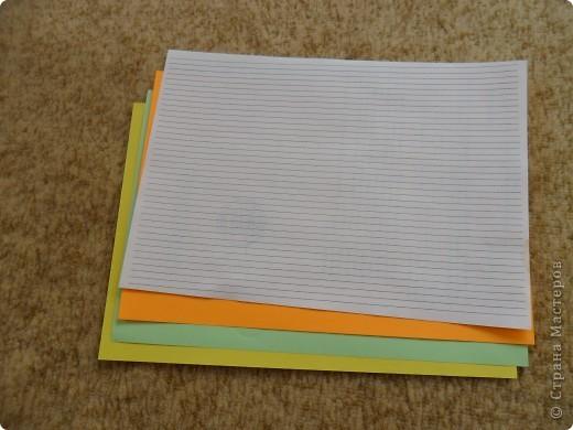 Этот способ я придумала сама. Сначала я нарезала полоски по железной линейке резаком, но нож быстро тупился. И тогда я сделала на компьютере разлиновку. Правда сначала даже печатала её на цветной бумаге, но оставались серенькие следы от краски. Ширина моих полос 5 мм.  Разлиновку я сделала в программе Microsoft Office Word 2003.( надо вставить таблицу, количество строк - 42, столбец - 1  и растягиваю таблицу на весь лист) фото 2
