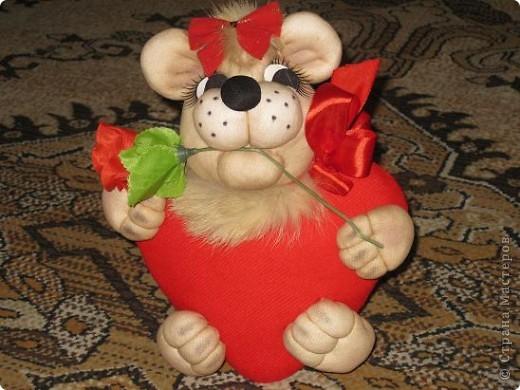 Вот такую валентинку я сшила в подарок мужу благодаря МК Copilki.,за что огромнейшее спасибо! фото 1