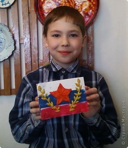 Пластилиновые открытки к празднику фото 6