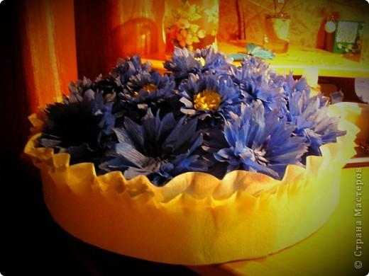 Вот такая корзинка со сладкими цветочками у меня вышла :)  фото 3