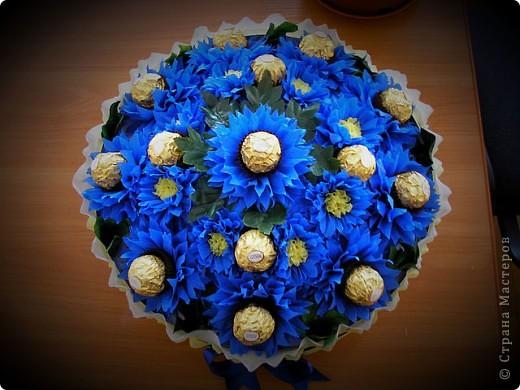 Вот такая корзинка со сладкими цветочками у меня вышла :)  фото 4