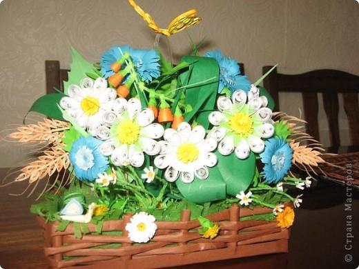 Букет полевых цветов фото 3