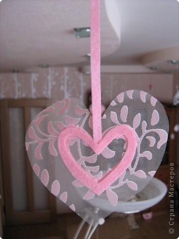 Посетило вдохновение и... вот такое сердечко получилось за 10-15 минут.  Хочу украсить комнату своей доченьки множеством таких (или подобных) сердечек. Она их обожает. :)) фото 5