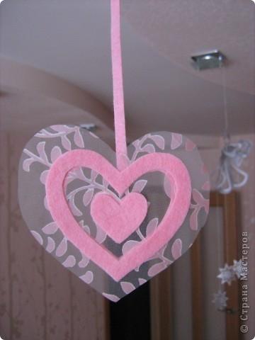 Посетило вдохновение и... вот такое сердечко получилось за 10-15 минут.  Хочу украсить комнату своей доченьки множеством таких (или подобных) сердечек. Она их обожает. :)) фото 6