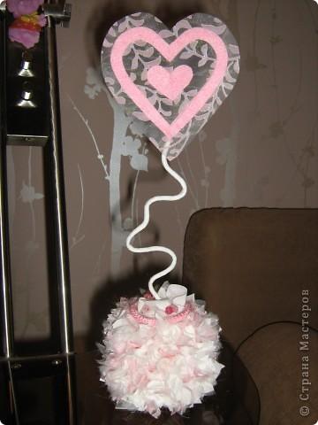 Посетило вдохновение и... вот такое сердечко получилось за 10-15 минут.  Хочу украсить комнату своей доченьки множеством таких (или подобных) сердечек. Она их обожает. :)) фото 9