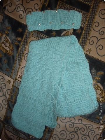 шапочка и шарфик любимой доче фото 2