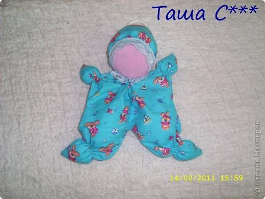 Кукла-Малявко для малышей. Вот осталась ткань от пеленок, и получилась такая лялечка :-) фото 1