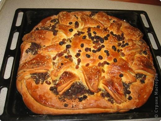 Пирог с маком и изюмом