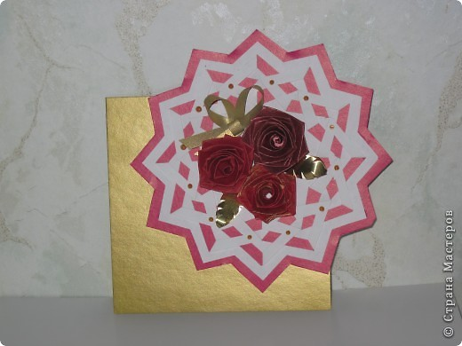 9 октября 2010 года я выложила в Стране Мастеров открытку «На годовщину Свадьбы» фото 1