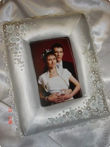 Рамка в подарок на День Святого Валентина и в общий тон прошедшей свадьбы фото 1
