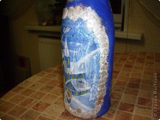 Эту бутылочку хочу подарить на день рождения как дополнение к основному подарку. Но вот не знаю , как она выглядит со стороны? Это моя первая работа. Откоментируйте пожалуйста. фото 4