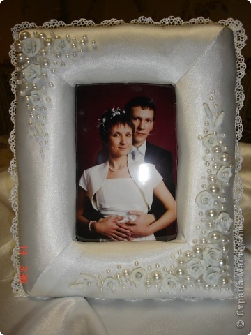 Рамка в подарок на День Святого Валентина и в общий тон прошедшей свадьбы фото 5