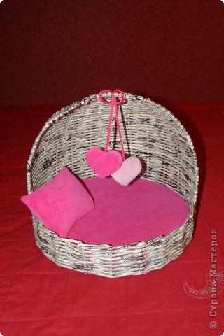 Сшила матрас, подушку и валентинки из велюра с поролоном. фото 1