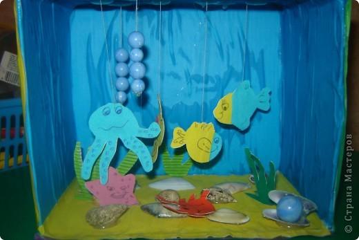 здесь мы подготовили из цветной бумаги морских обитателей. фото 3