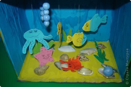 здесь мы подготовили из цветной бумаги морских обитателей. фото 4