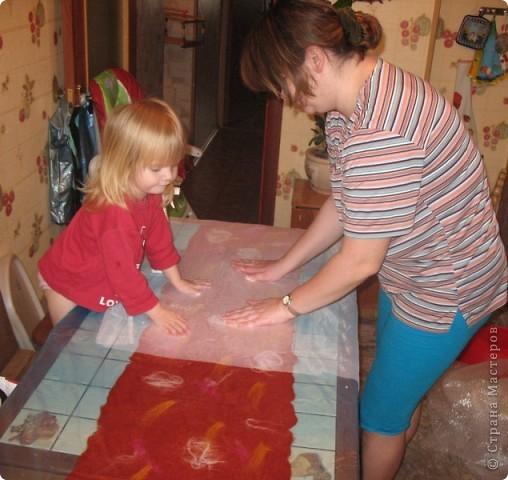 вот  такой палантин мы сделали с дочкой))))) фото 3