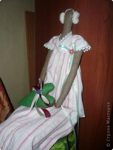 Ангел с лавандовым сердцем. Была сшита для подарка на день рождения коллеге. Ангел на фото бескрылый, их прикрепила позже. фото 3