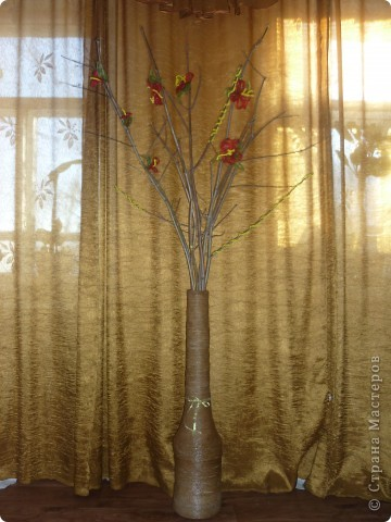 Декор предметов Напольная ваза Бисер фото 5.