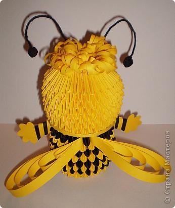 """Всем Пчёлкам сайта """"Страна Мастеров"""" посвящаю эту работу. Особая благодарность Марине (СИПОЛИК) за чёрную бумагу :))) (Это моя авторская работа). фото 2"""