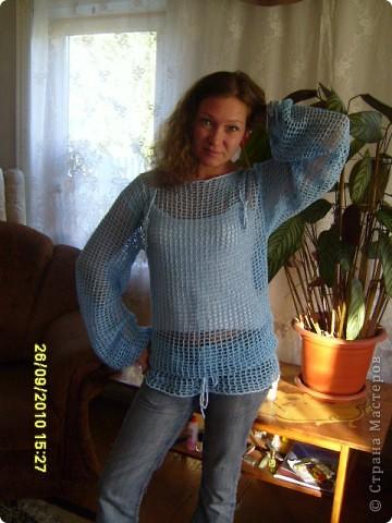 Голубая туника  фото 4