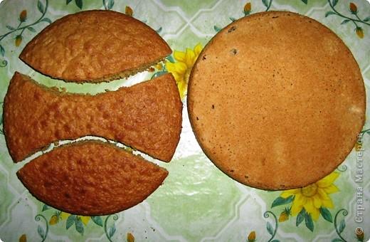 Решила порадовать своих близких на день св.Валентина таким забавным тортиком. фото 2