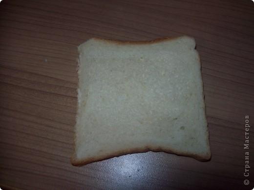 Берём кусочек тостерного хлебушка. фото 1